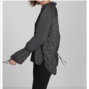 Striped bell  sleeve shirt Express  NWT